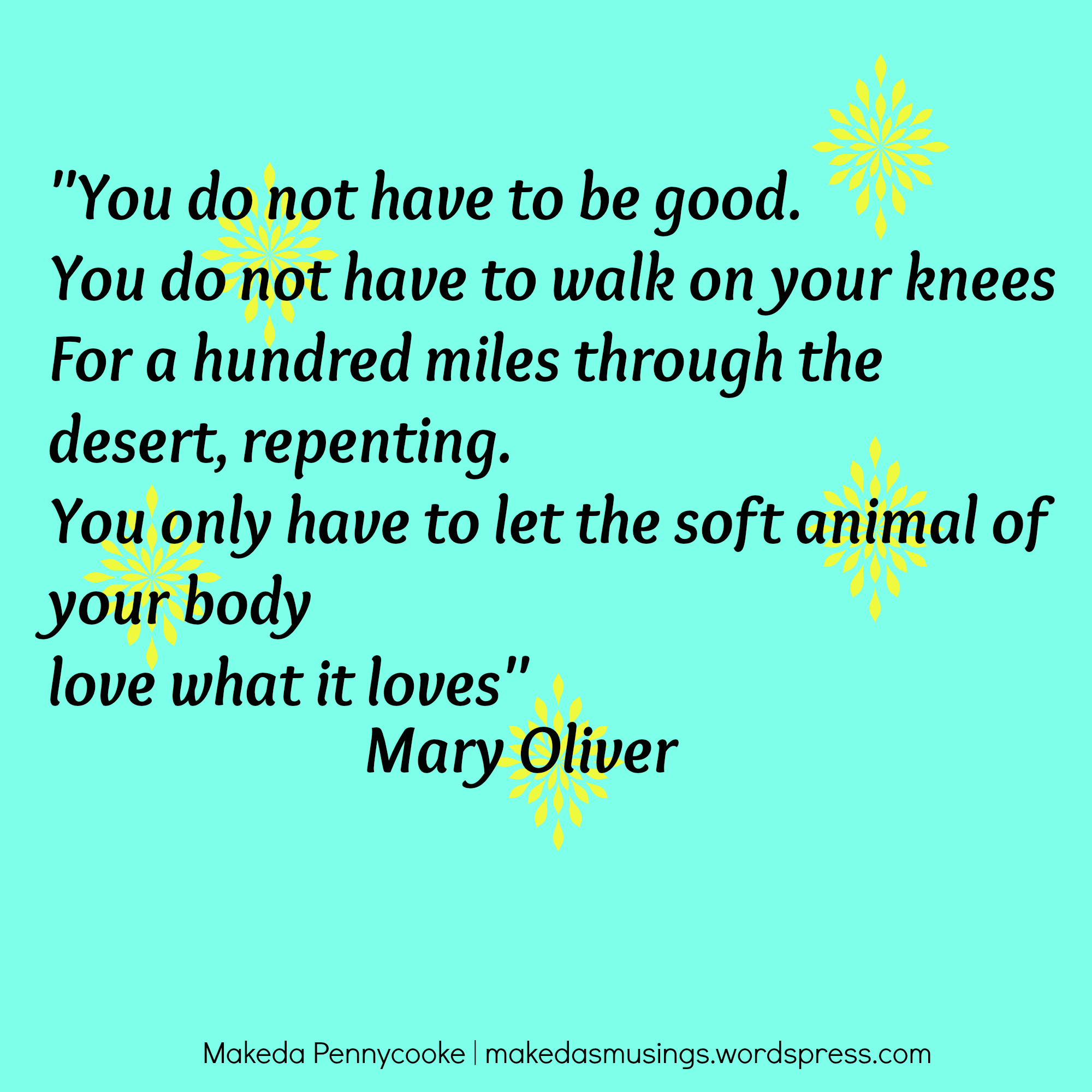 Mary Oliver Love Quotes You Do Not Have To Be Good  Makeda's Musings